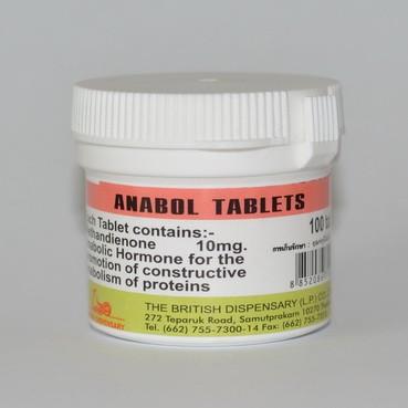 Anabol Tablets 100tab, 10mg/tab